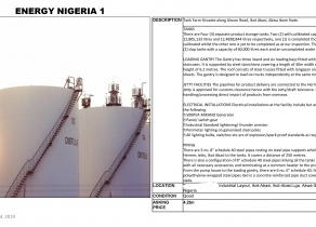 TANK FARM STORAGE AVAILABLE FOR SALE AKWA IBOM STATE